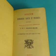 Libros antiguos: OFFICIUM HEBDOMADAE SANCTAE ET PASCHATIS. SEMANA SANTA. EN LATÍN, NOTAS EN CASTELLANO. Lote 56393406