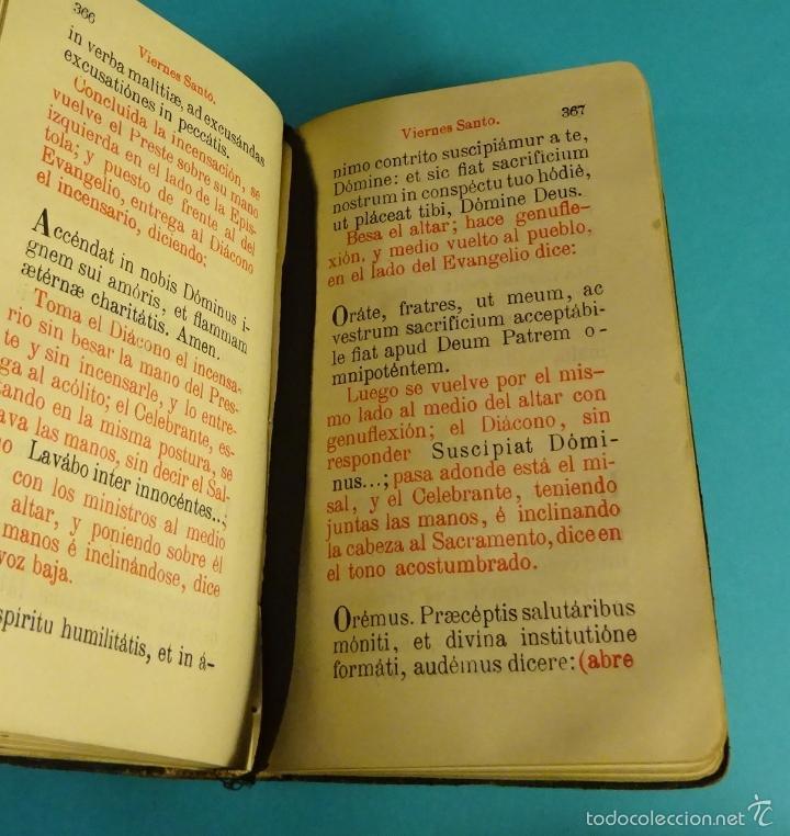 Libros antiguos: OFFICIUM HEBDOMADAE SANCTAE ET PASCHATIS. SEMANA SANTA. EN LATÍN, NOTAS EN CASTELLANO - Foto 4 - 56393406