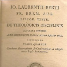 Alte Bücher - Teología / Giovanni L. Berti – 1806 * IBARRA * - 56507884