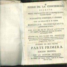 Libros antiguos: FUERO DE LA CONCIENCIA. P. FR. VALENTÍN DE LA MADRE DE DIOS. Lote 56565531