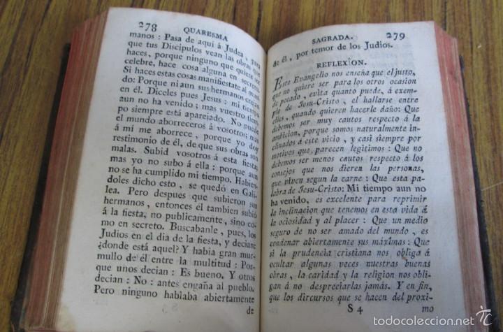 Libros antiguos: Quaresma sagrada del christiano o manual devoto santificar todos los días de la Santa Quaresma 1791 - Foto 5 - 56577901