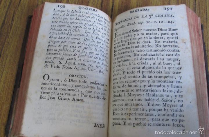 Libros antiguos: Quaresma sagrada del christiano o manual devoto santificar todos los días de la Santa Quaresma 1791 - Foto 6 - 56577901