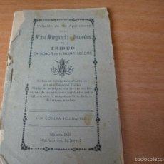 Libros antiguos: MURCIA-1925 - TRIDUO A LA SANTISIMA VIRGEN DE LOURDES. Lote 56587246