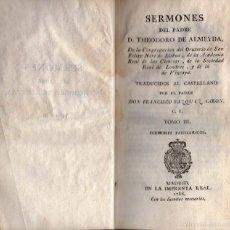 Libros antiguos - SERMONES DEL PADRE THEODORO DE ALMEYDA TOMO III - 57019898