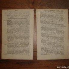 Libros antiguos: DOS CAPÍTULOS DE LA LA OBRA RELIGIOSA DEL XVII MESSIS MYRRHAE.., DE JEAN DAVID, AMBERES, 1618. Lote 57131193