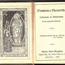 Libros antiguos: LIBRO FLOWERS OF NAZARETH 1889. Lote 57147538