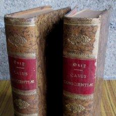 Libros antiguos: 2 LIBROS - CASUS CONSCIENTIAE - THELOLGIAE MORLIS - POR JOANNE PETRO GURY 1887. Lote 57351658