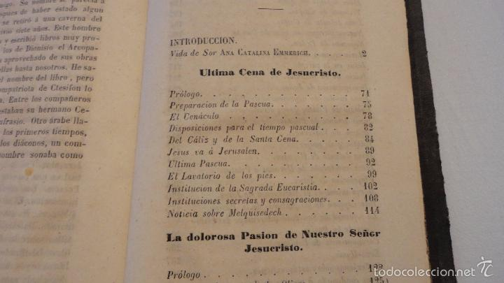 Libros antiguos: SOR ANA-CATALINA EMMERICH.LA DOLOROSA PASION DE N.S.JESUCRISTO.MADRID.1853. - Foto 3 - 57419327
