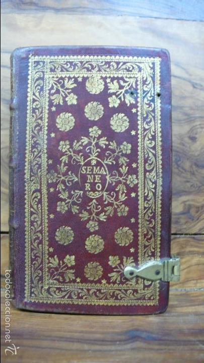Libros antiguos: OFICIO DE LA SEMANA SANTA SEGÚN EL MISAL Y BREVIARIOS ROMANOS. 1776. - Foto 3 - 57435711