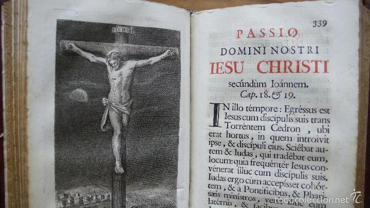 Libros antiguos: OFICIO DE LA SEMANA SANTA SEGÚN EL MISAL Y BREVIARIOS ROMANOS. 1776. - Foto 7 - 57435711