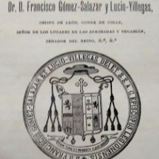 Libros antiguos: CASTILLA LEON,RARO LIBRO SIGLO XIX,CONSTITUCIONES SINODALES PARA LA DIOCESIS DE LEON,AÑO 1893,OBISPO. Lote 57474616