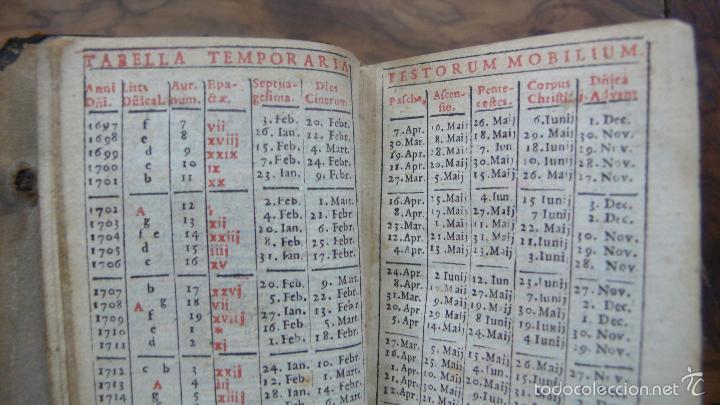 Libros antiguos: HORAE DIURNAE BREVIARII ROMANI 1697. [SIGUE:]HORAE DIURNAE PROPRIAE SANCTORUM HISPANORUM.. 1700. - Foto 5 - 57511702