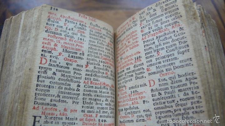 Libros antiguos: HORAE DIURNAE BREVIARII ROMANI 1697. [SIGUE:]HORAE DIURNAE PROPRIAE SANCTORUM HISPANORUM.. 1700. - Foto 6 - 57511702