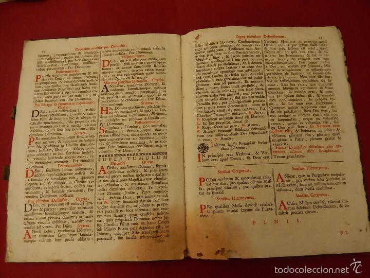 Libros antiguos: Missae in Agenda defunctorum, ad celebrantium commoditatem, ex Missali Romano. 1784. - Foto 11 - 57566477