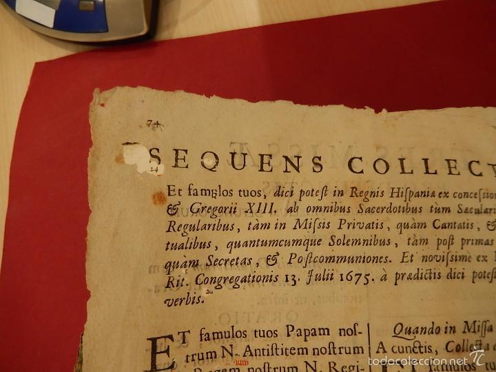 Libros antiguos: Missae in Agenda defunctorum, ad celebrantium commoditatem, ex Missali Romano. 1784. - Foto 16 - 57566477