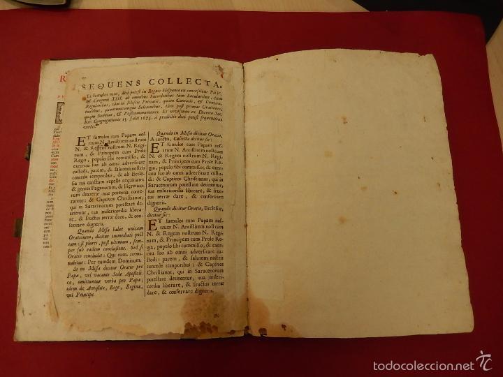 Libros antiguos: Missae in Agenda defunctorum, ad celebrantium commoditatem, ex Missali Romano. 1784. - Foto 17 - 57566477