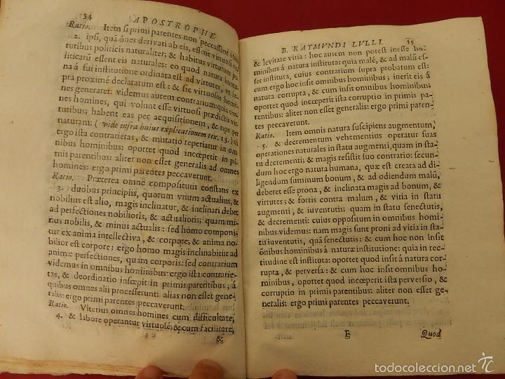 Libros antiguos: Apostrophe Dris Illuminati, ac Martyris, gloriosissimi beati Raymundi Lulli Balearis. 1688. Mallorca - Foto 13 - 57566535