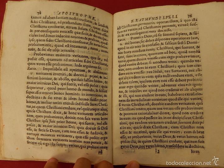 Libros antiguos: Apostrophe Dris Illuminati, ac Martyris, gloriosissimi beati Raymundi Lulli Balearis. 1688. Mallorca - Foto 14 - 57566535