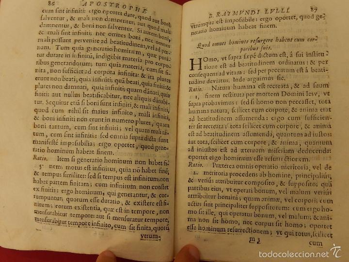Libros antiguos: Apostrophe Dris Illuminati, ac Martyris, gloriosissimi beati Raymundi Lulli Balearis. 1688. Mallorca - Foto 15 - 57566535