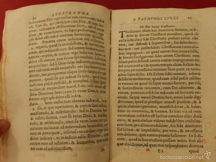 Libros antiguos: Apostrophe Dris Illuminati, ac Martyris, gloriosissimi beati Raymundi Lulli Balearis. 1688. Mallorca - Foto 16 - 57566535