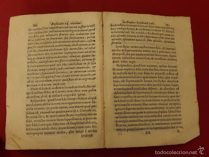 Libros antiguos: Apostrophe Dris Illuminati, ac Martyris, gloriosissimi beati Raymundi Lulli Balearis. 1688. Mallorca - Foto 19 - 57566535