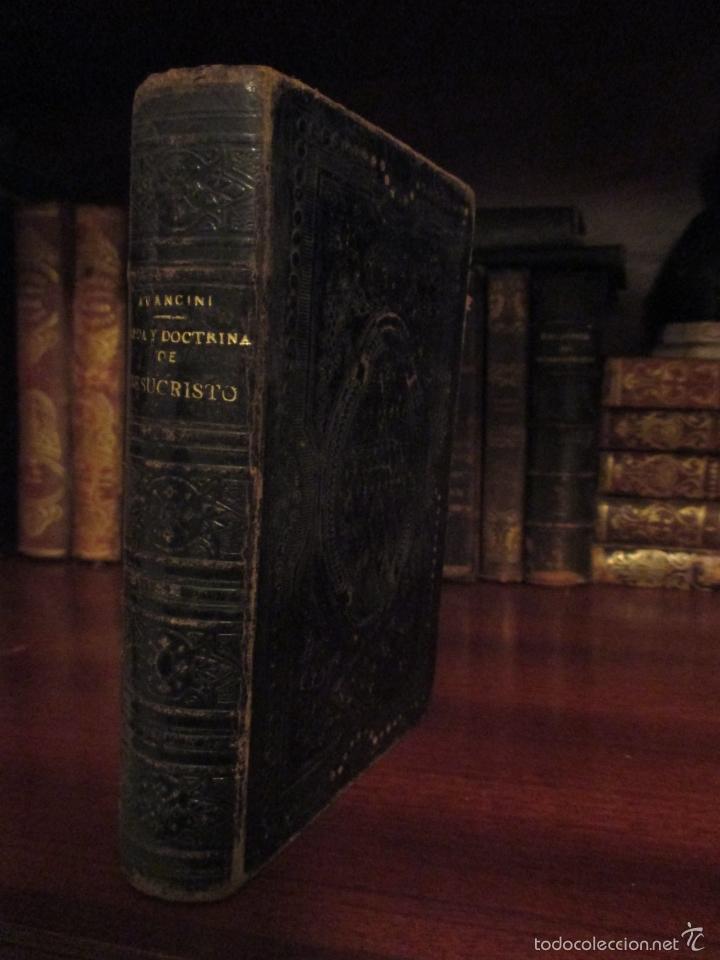 VIDA Y DOCTRINA DE JESUCRISTO. AVANCINI. 1892. BARCELONA. (Libros Antiguos, Raros y Curiosos - Religión)