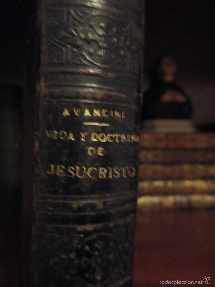 Libros antiguos: VIDA Y DOCTRINA DE JESUCRISTO. AVANCINI. 1892. BARCELONA. - Foto 3 - 57609196