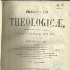 Libros antiguos: PRAELECTIONES THEOLOGICAE. JOANNES PERRONE. TOMUS SECUNDUS. J. SUBIRANA. BARCELONA. 1866. Lote 57643113