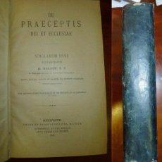 Libros antiguos: DE PRAECEPTIS DEI ET ECCLESIAE : SCHOLARUM USUI / H. NOLDIN, S.J. (SUMMA THEOLOGIAE MORALIS ; 2). Lote 57659000
