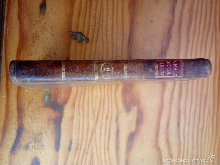 Libros antiguos: LOS ANALES DE LA VIRTUD, TOMO NUMERO 2,AÑO 1792,CONDESA DE GENLIS. - Foto 2 - 57728057