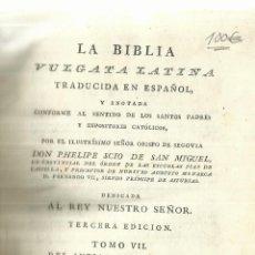 Libros antiguos: LA BIBLIA. D. PHELIPE SCIO DE SAN MIGUEL. IMP.IBARRA. MADRID. 1808.TOMO VII DEL ANTIGUO TESTAMENTO. Lote 57765888