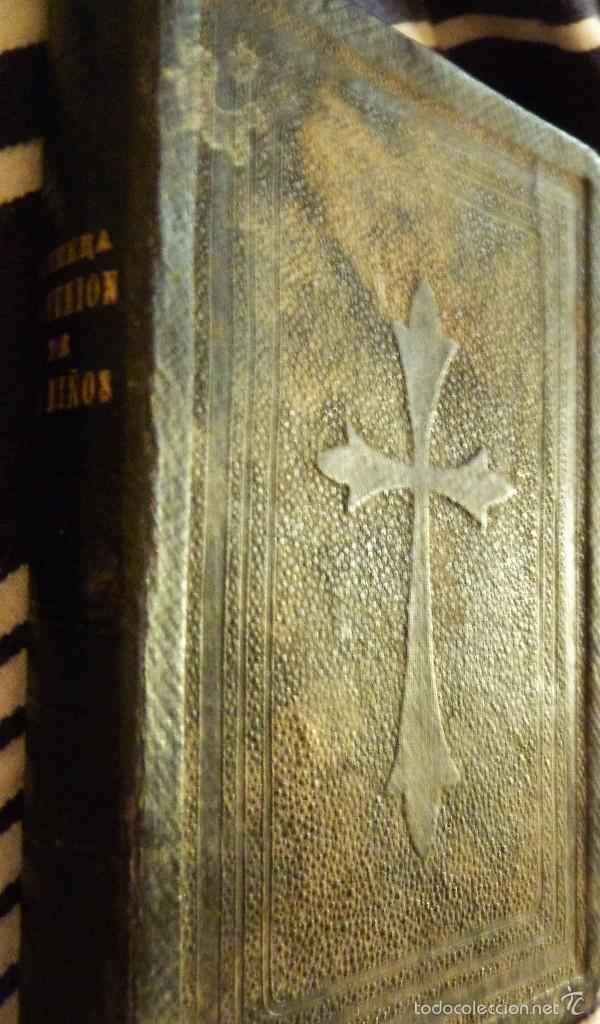 Libros antiguos: ejercicios espirituales preparatorios a la primera 1 comunion de los niños Antonio maria claret 1901 - Foto 2 - 57941365