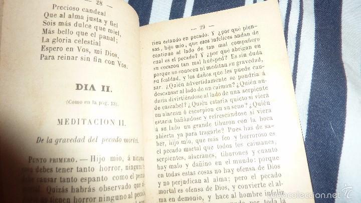 Libros antiguos: ejercicios espirituales preparatorios a la primera 1 comunion de los niños Antonio maria claret 1901 - Foto 3 - 57941365