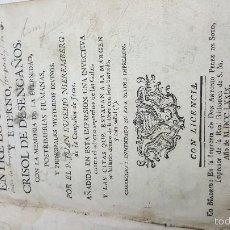 Libros antiguos: DIFERENCIA ENTRE LO TEMPORAL Y ETERNO, CRISOL DE DESENGAÑOS. EUSEBIO NIEREMBERG. AÑO 1779.. Lote 58078786