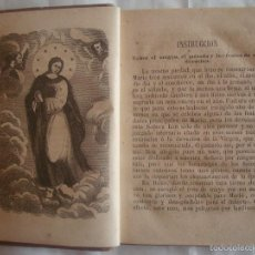 Libros antiguos: EDICIÓN ISABELINA DE FLORES A MARIA CONSAGRADO A LA REINA DE LOS CIELOS.1858. PIEL. Lote 58244235