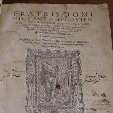 Libros antiguos: DOMINGO DE SOTO: DE NATURA ET GRATIA LIBRI III. CUM APOLOGIA... SALAMANCA 1561. Lote 58610396
