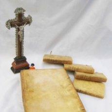 Libros antiguos: GRAN LIBRO TOMO TIPO CODICE EN PIEL PERGAMINO 1650! LOMO LETRA GOTICA , AUGUSTINUS BARBOSA. Lote 58718055