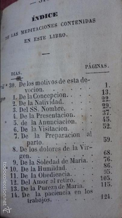 Libros antiguos: RAMILLETE DE FLORES.VIRGEN SANTISIMA.MES DE MAYO.IGLESIA NTRA,SRA DEL PINO.BARCELONA.1857. - Foto 12 - 237057680