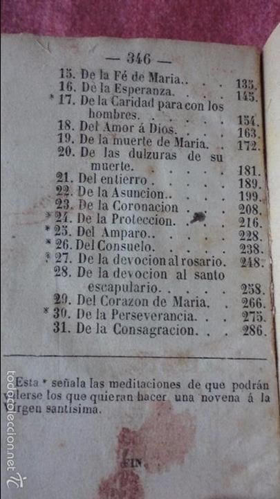 Libros antiguos: RAMILLETE DE FLORES.VIRGEN SANTISIMA.MES DE MAYO.IGLESIA NTRA,SRA DEL PINO.BARCELONA.1857. - Foto 8 - 237057680