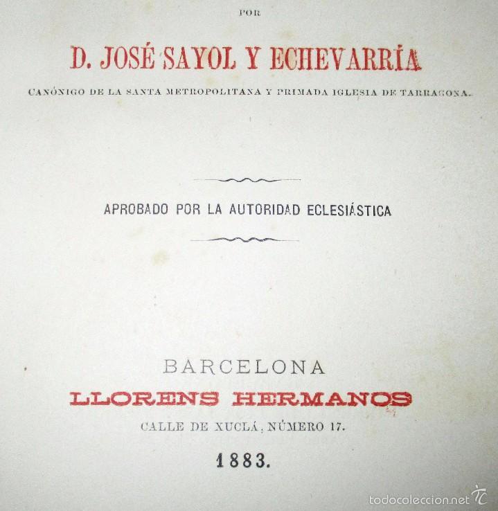 Libros antiguos: PEQUEÑO MISAL ROMANO PARA LA MUJER CATÓLICA. JOSÉ SAYOL Y ECHEVARRÍA. 1883. - Foto 5 - 59713215