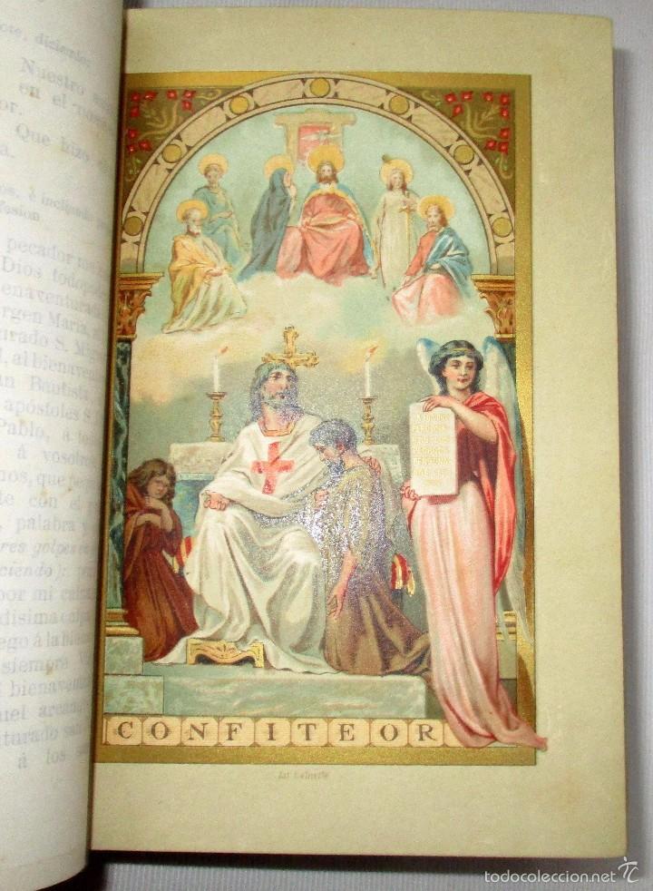 Libros antiguos: PEQUEÑO MISAL ROMANO PARA LA MUJER CATÓLICA. JOSÉ SAYOL Y ECHEVARRÍA. 1883. - Foto 6 - 59713215