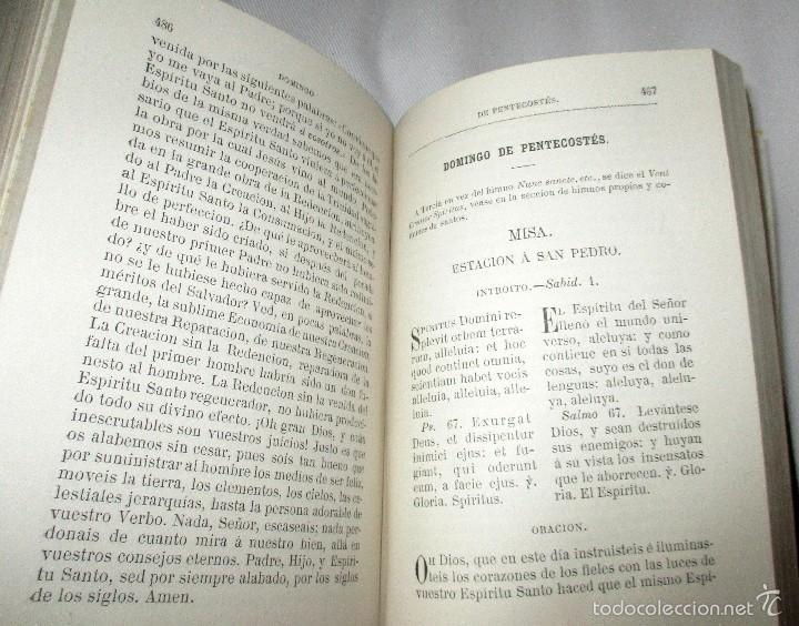 Libros antiguos: PEQUEÑO MISAL ROMANO PARA LA MUJER CATÓLICA. JOSÉ SAYOL Y ECHEVARRÍA. 1883. - Foto 7 - 59713215