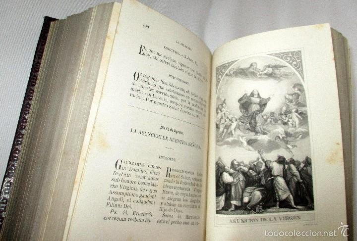 Libros antiguos: PEQUEÑO MISAL ROMANO PARA LA MUJER CATÓLICA. JOSÉ SAYOL Y ECHEVARRÍA. 1883. - Foto 9 - 59713215