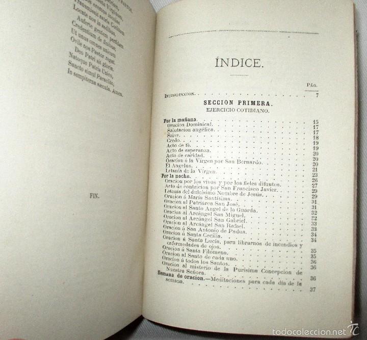 Libros antiguos: PEQUEÑO MISAL ROMANO PARA LA MUJER CATÓLICA. JOSÉ SAYOL Y ECHEVARRÍA. 1883. - Foto 11 - 59713215