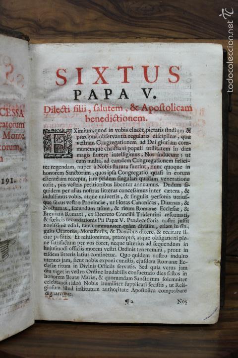 Libros antiguos: OFFICIA PROPRIA SANCTORUM ET ALIARUM FESTIVITATUM ORDINIS CARMELITARUM... 1745. - Foto 4 - 59845524