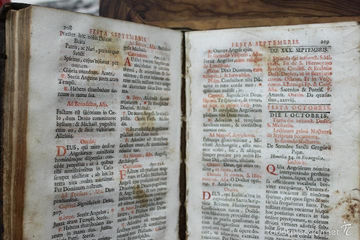 Libros antiguos: OFFICIA PROPRIA SANCTORUM ET ALIARUM FESTIVITATUM ORDINIS CARMELITARUM... 1745. - Foto 6 - 59845524