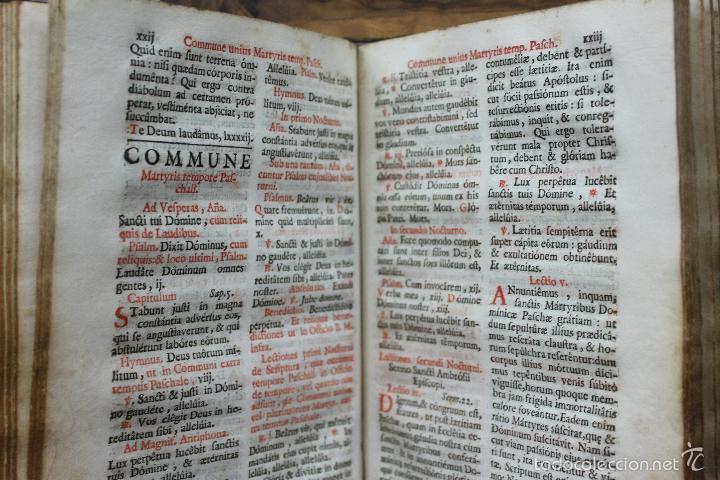 Libros antiguos: OFFICIA PROPRIA SANCTORUM ET ALIARUM FESTIVITATUM ORDINIS CARMELITARUM... 1745. - Foto 7 - 59845524