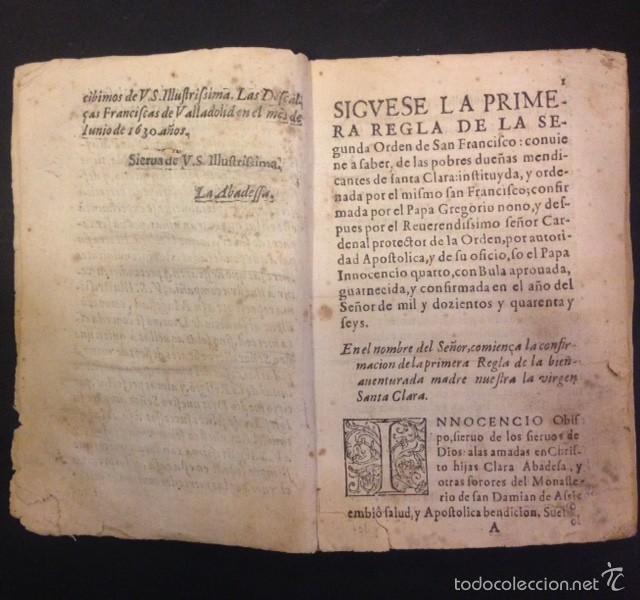 Libros antiguos: SEGUNDA REGLA DE LA ORDEN DE SAN FRANCISCO - Foto 3 - 105237526