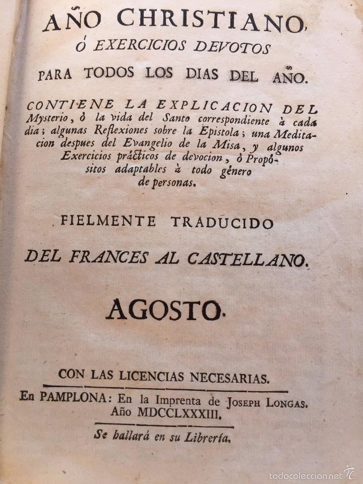 Libros antiguos: AÑO CRISTIANO 1.782 - 12 MESES - Foto 2 - 59998815
