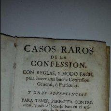 Libros antiguos: CASOS RAROS DE LA CONFESION -(COMPAÑIA JESUS). Lote 60285015
